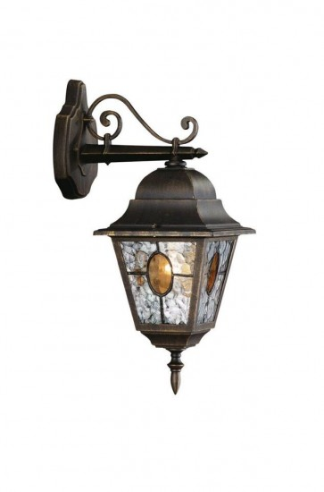 Outdoor Garden Wall Lamp Light Lantern Black Outside Traditional Vintage House