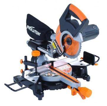Evolution Rage3S+ 210 mm Single-Bevel Sliding Mitre Saw Multipurpose Power Tool