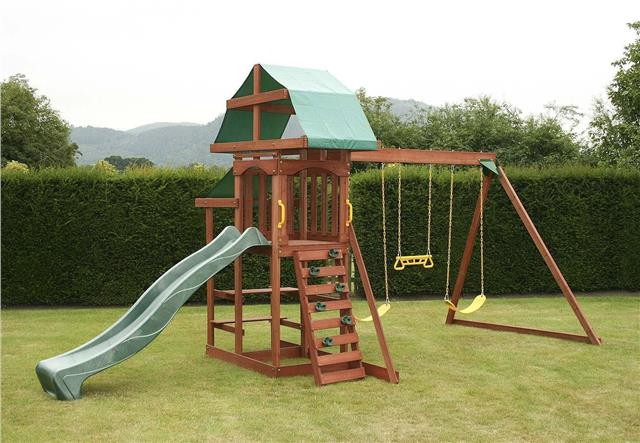 Outdoor Swing Set Garden Playground Climbing Frame Kids Children ...
