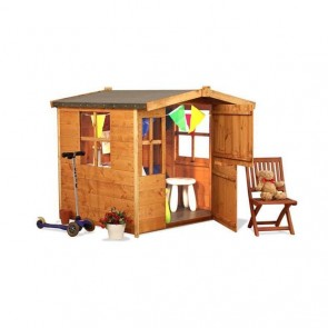 Outdoor Wooden Children Playhouse Kid Garden Wendy House Playground Toy Shed Den