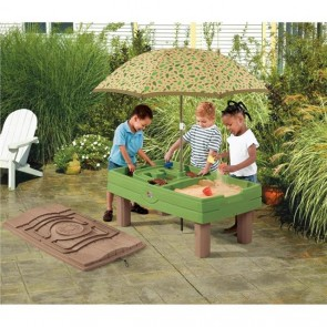 Kids Outdoor Garden Sand Pit Childrens Water Table Toy Activity Movable Umbrella