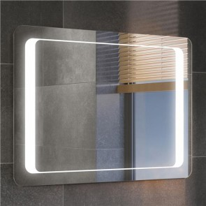 LED Illuminated Bathroom Mirror Light With Sensor and Demister 90 x 65 CM IP44