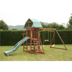 Outdoor Swing Set Garden Playground Climbing Frame Kids Children Playhouse Slide