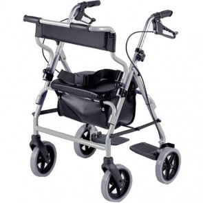 Rollator with Seat Chair Lightweight Mobility Walker Disability Aid 4 Wheel NEW