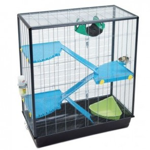 SAVIC ZENO 3 EMPIRE Extra Tall Rat, Ferret, Gerbil Small Pet Cage, Snap-Locking