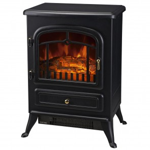 Homcom FREESTANDING ELECTRIC FIRE PLACE 41.5x28x54.8cm 1850W Indoor Heater Stove