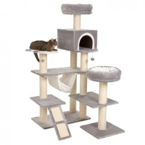 GINGERBREAD CAT TREE XXL Sleeping Den, Large Hammock, 2 Beds, Scratch Poles
