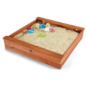 Plum Large Square Outdoor Play Wooden Sand Pit for Kids Toddlers & Children NEW