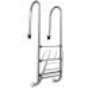 Swimming Pool Ladder Steps Steel Frame, Rubber Safety Feet Non Slip Large 1.5M